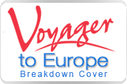 Voyager to Europe breakdown cover