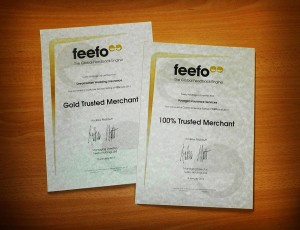 Feefo Award to Voyager for outstanding customer service